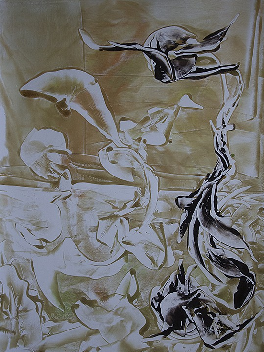 Michael Krasowitz Yoda Monoprint 2012