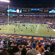 Super Bowl XLVIII Broncos End Zone