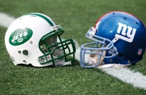 giants jets helmets