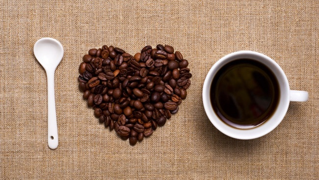 Heart coffee beams