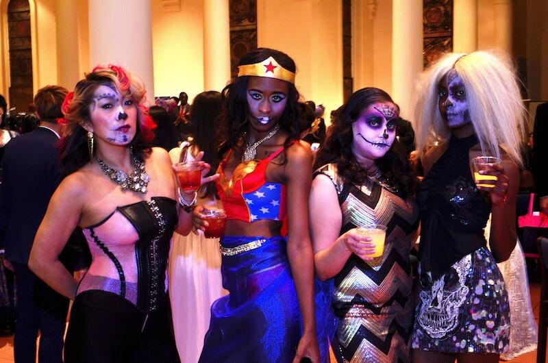 From left: models Satoko Mori, Akira Edwards, Michelle and Vanessa