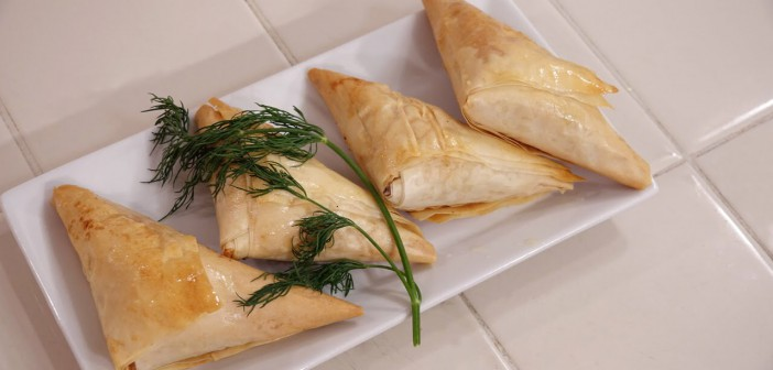 Danny Mac's Kitchen Spanakopita Triangles Recipe