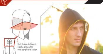 visor stealth hoodie homeless kickstarter