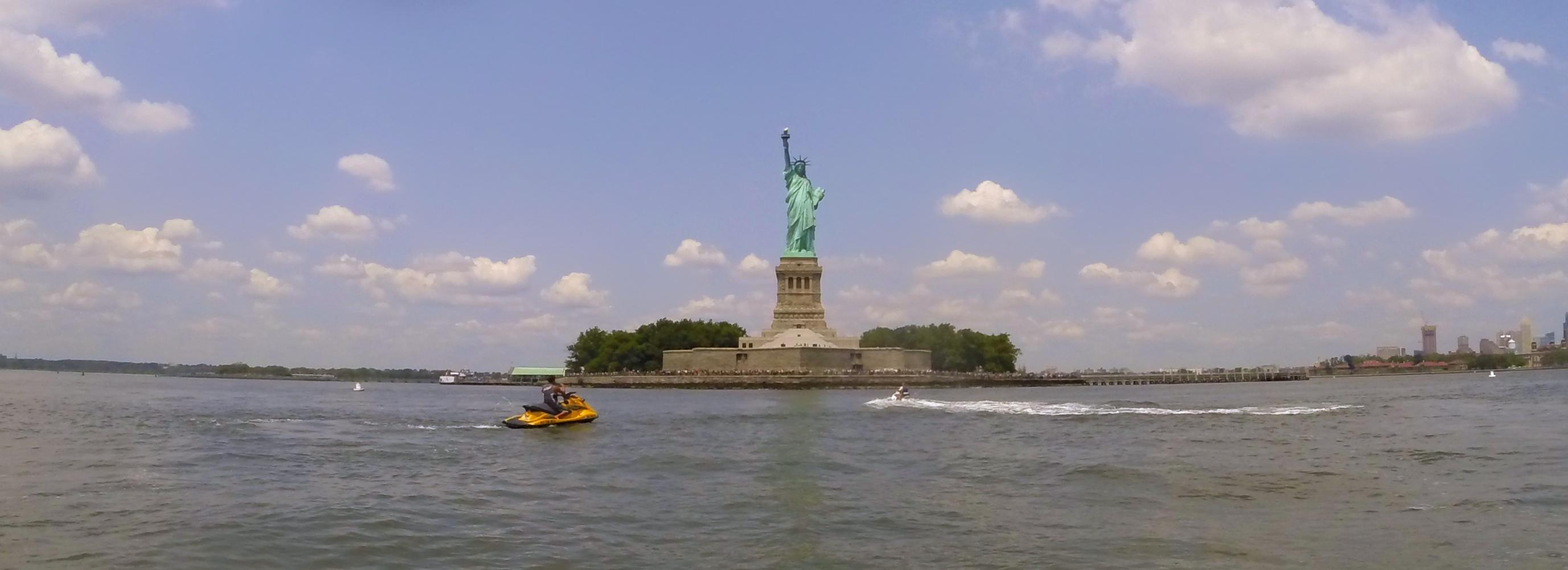 statue of liberty jet ski nyc