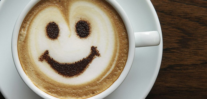 Coffee smile face