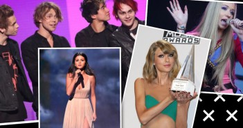 american music awards selena gomez taylor swift one direction