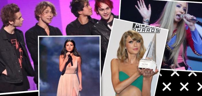 american music awards selena gomez taylor swift one direction