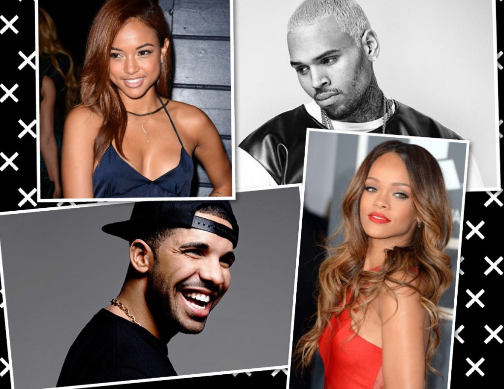 drake, rihanna, chris brown