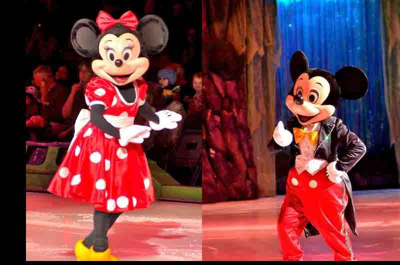 mickey and minnie on ice