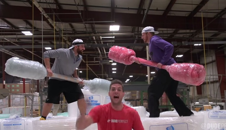 dudeperfect bubble wrap