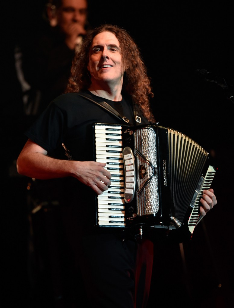 "Recording artist ""Weird Al"" Yankovic performs in support of ""The Mandatory World Tour"" at Planet Hollywood Resort and Casino on May 12, 2015 in Las Vegas, Nevada. *** Local Caption *** Al Yankovic"